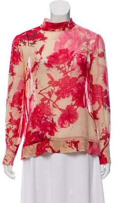 Ted Baker Floral Print Long Sleeve Blouse