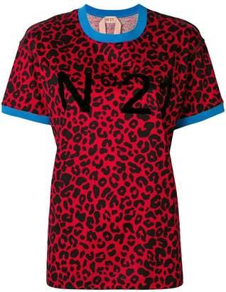 No.21 leopard print T-shirt