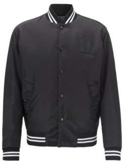 BOSS Hugo Limited-edition reversible satin bomber jacket Jeremyville details 38R Black