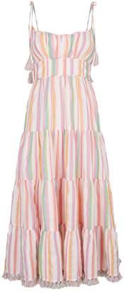 Zimmermann Heathers Stripe Tassel Midi Dress