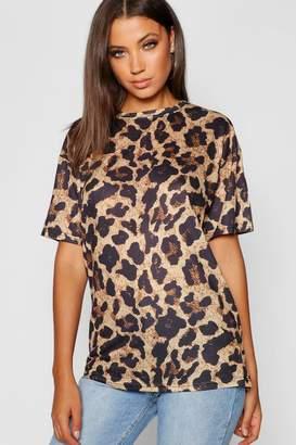 boohoo Tall Leopard Print T-shirt