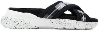 Hogan crossover strap logo sandals