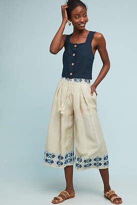 Endless Rose Kimpton Embroidered Wide-Leg Pants