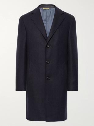 Canali Herringbone Wool And Cashmere-Blend Overcoat