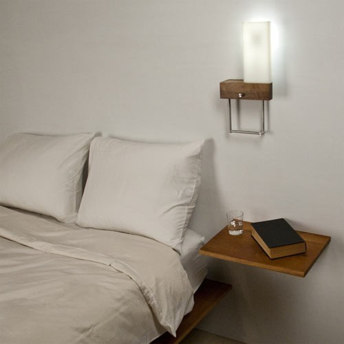 Cubo Cerno LED Bedside Sconce and Reading Light Right Orientation -Open Box