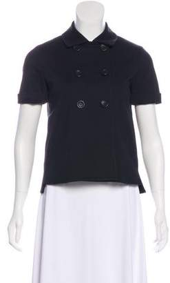 Theory Double-Breasted Short Sleeve Jacket