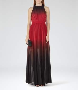 Reiss Hawk Ombre Pleated Maxi Dress