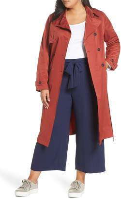 Halogen Double Breasted Trench Coat