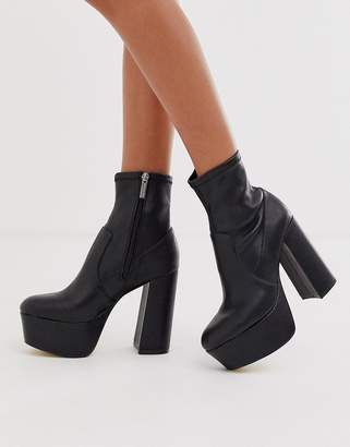 Office Another Level black platform heeled ankle boots