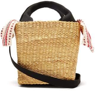 Muun Mini Rita Straw Basket Bag - Womens - Red Multi