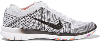 Nike - Free Tr 5 Flyknit Sneakers - Light gray $130 thestylecure.com