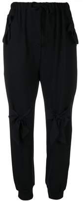 Simone Rocha bow detail track pants