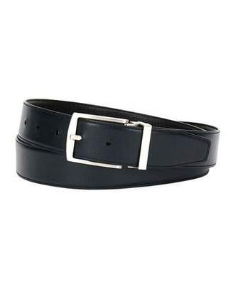 Giorgio Armani Traditional Dual-Textured Leather Belt