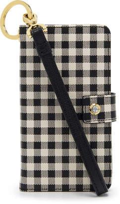 Henri Bendel Dakota Gingham Wristlet For Iphone 7/8