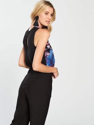 18c5ee5222 Little Mistress Floral Printed Jumpsuit - Black