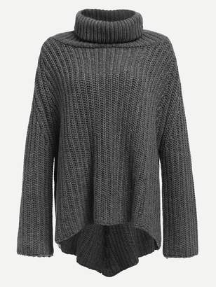 Shein Turtle Neck Asymmetric Sweater