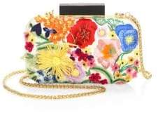 Alice + Olivia Floral Embroidery Convertible Clutch