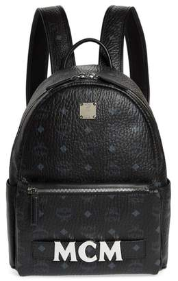 MCM Small Stark Trilogie Canvas Backpack