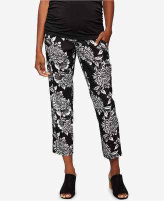 A Pea In The Pod Maternity Printed Ankle Pants $88 thestylecure.com