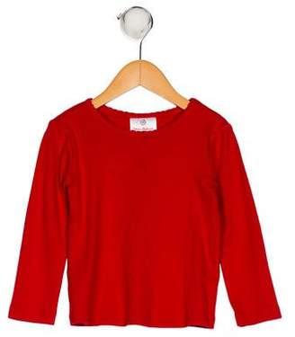 Hannah Anderson Girls' Long Sleeve Scoop Neck Top