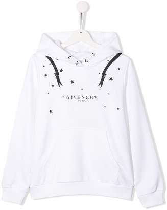 Givenchy Kids TEEN logo print hoodie