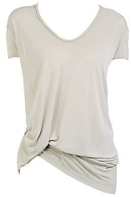 Rick Owens Women's Viscose Jersey Hiked T-Shirt