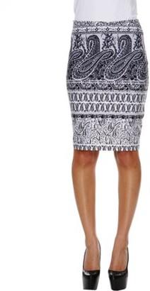 White Mark Women's Victorian Printed Pencil Skirt