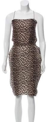Lanvin Sleeveless Printed Midi Dress
