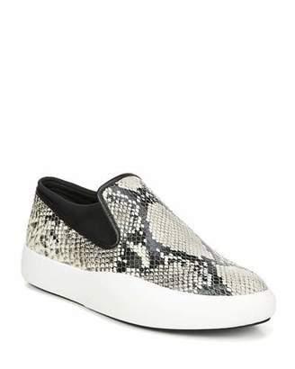 Via Spiga Yvonne Snake-Print Platform Sneakers