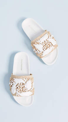 Zimmermann Raffia Pool Slides