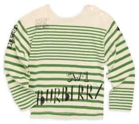 Burberry Baby& Toddler's Stripe Cotton Logo Tee
