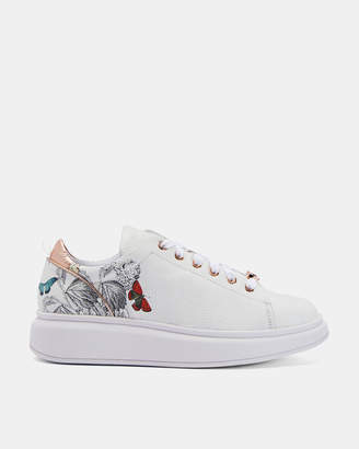 Ted Baker AILBE3 Printed platform sole trainers