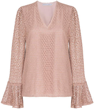 Madiyah Al Sharqi Nude Long Sleeve Top