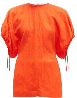 Jil Sander Dolman Sleeve Wrinkled Twill Top - Womens - Orange