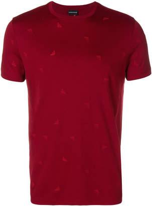 Emporio Armani micro logo print T-shirt