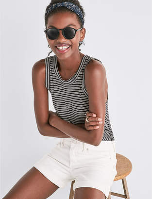 Lucky Brand THE ROLL UP JEAN SHORT IN CLEAN WHITE
