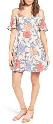 Women's Lush Off The Shoulder Fit & Flare Dress $49 thestylecure.com