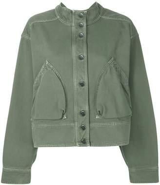 Valentino army denim bomber jacket