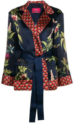 F.R.S For Restless Sleepers floral print tied blouse