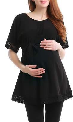 Kimi and Kai Lace Trim Maternity Tunic