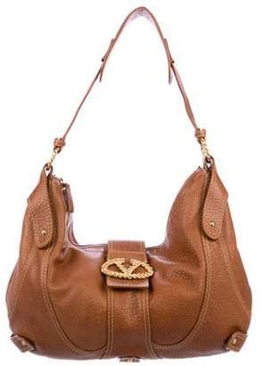 Valentino Leather Catch Hobo