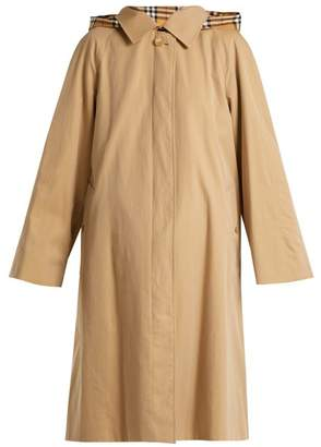 Burberry Richmond Cotton Gabardine Trench Coat - Womens - Beige