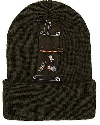 Albertus Swanepoel Women's Nancy Pin-Embellished Wool Beanie - Dk. Green