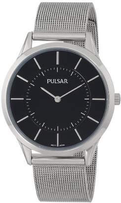 Pulsar Men's PTA499X Silver-Tone Watch with Mesh Bracelet
