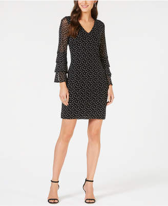 INC International Concepts I.N.C. Tiered-Sleeve Mesh Dress, Created for Macy's