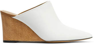 The Row Flora Leather Mules - White