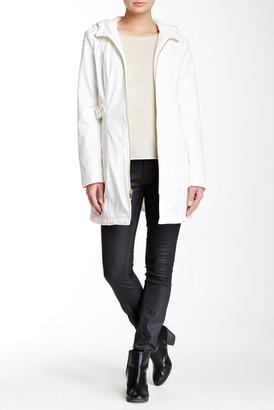 Via Spiga Zip Front Hooded Walker Jacket $208 thestylecure.com