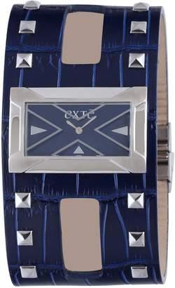 Exte Women's EX.4017M/03 Blue Calfskin Band watch.