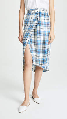 Paper London Siven Silk Wrap Skirt