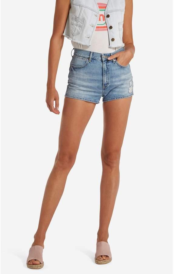 Pin up short - Short - jeansblau